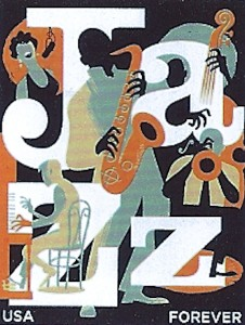 Postage Stamp of Several Jazz Arts Mediums